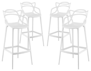 Entangled Bar Stools Set of 4 White
