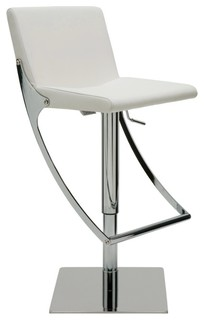 Swing Adjustable Barstool by Nuevo Living White