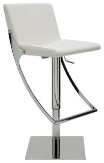 Swing Adjustable Barstool by Nuevo Living White