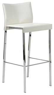 Riley Bar Chair Set of 2 White
