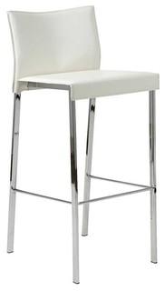 Riley Bar Chair Set of 2 White