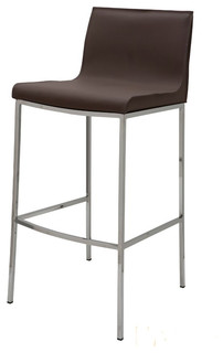 Colter Leather Stool Mink Bar Height