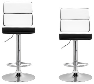 Hollywood Modern Swivel Bar Stools Set of 2 White
