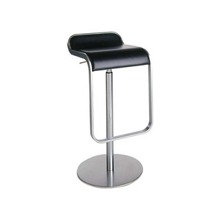 Lem Piston Barstool Black Leather Tall