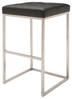 Upholstered Bar Stool in Black