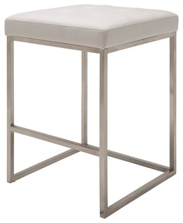 Upholstered Counter Stool White