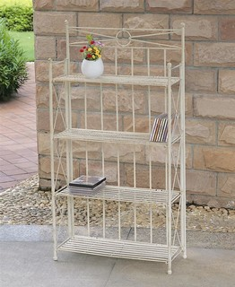 Iron Folding 4 Tier Indoor Outdoor Bakers Rack