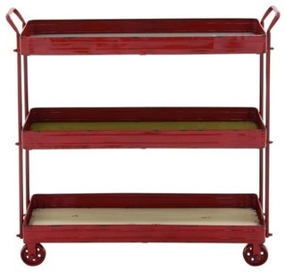 Metal Wood 3 Tier Cart