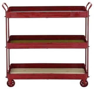 Metal Wood 3 Tier Cart