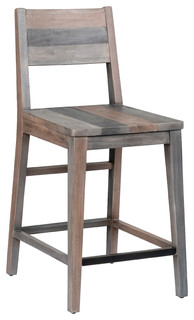 Foster Reclaimed Pine Counter Stool Charcoal