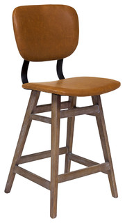 Sloan Counter Stool Brown Leather