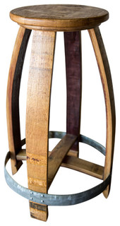 Wine Barrel Counter Stool Natural Finish