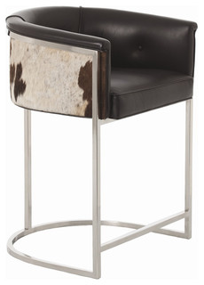 Calvin Low Bar Stool with Hide
