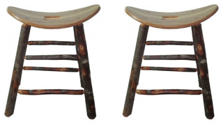 Saddle Seat Bar Stools Set of 2 24 quot