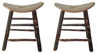 Saddle Seat Bar Stools Set of 2 24 quot