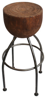 Round Stump Barstool