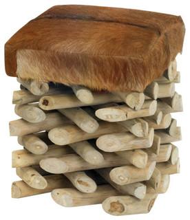 Log Cabin Stool