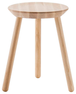 Na ve Natural Ash Wooden Short Stool