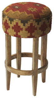 Las Cruces Kilim Pouf Bar Stool