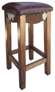 Canyon Bar Stool With Leather Bar Height