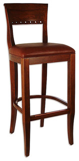 Biedermier Bar Stool Oak Brown