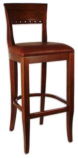 Biedermier Bar Stool Oak Brown