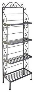 36 quot Steel French Bakers Rack With 4 Steel Shelves Ivory