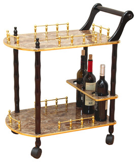 Hanalee Serving Tea Cart Gold Marble