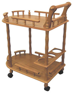 2 Tier Bar Cart w Wine Storage