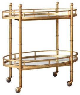 Normandy Bar Cart Gold