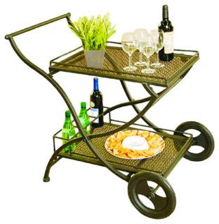 Laguna Wrought Iron EZ Serving Cart