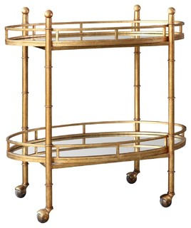 Bungalow 5 Normandy Bar Cart Gold Nor 325 808 Tb