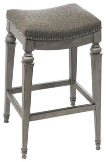Hillsdale Vetrina Counter Stool Gray Fabric