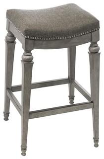 Hillsdale Vetrina Counter Stool Gray Fabric