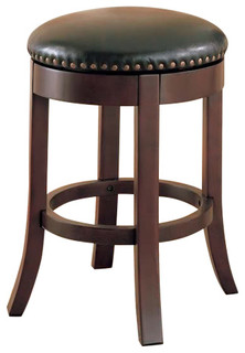 Walnut Finish Counter Height Bar Stools Set of 2