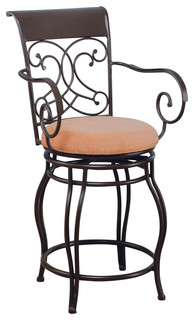 Dark Brown Metal Counter Height Stool Chair By Coaster 120020