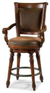 Hooker Furniture Waverly Place Swivel Stool Bar Height