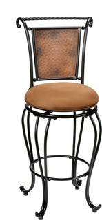 Hillsdale Milan 26 quot Swivel Seat Counter Stool in Copper