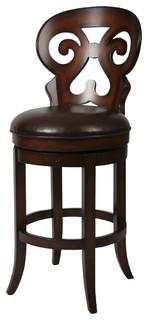 Pastel Hermosa Barstool Russet Cordovan Stallion Brown Seat 26 Inch