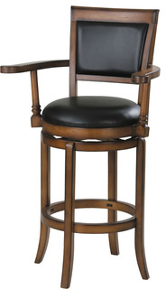 Chelsea Swivel Bar Chair Black Pu
