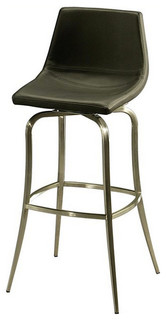Pastel Diamond Pearl Barstool Stainless Steel PU Black 26 Inch