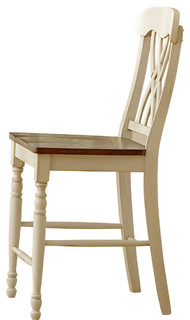 Homelegance Ohana Counter Height Chairs White Set of 2