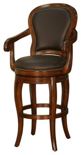 Santos 30 in Bar Stool in Cona and Chocolate