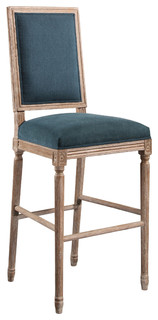 Chantelle Rectangle Back Bar Stool Blue