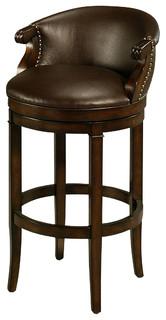 Pastel Princetown Barstool Bonded Ridge Leather Seat 26 Inch