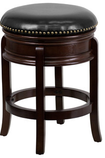 24 quot High Backless Cappuccino Wood Counter Height Stool Cappuccino