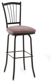 Traditional Open Back Swivel Stool Bar Height 30 quot
