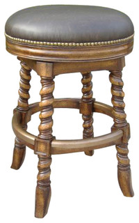 Dawson Swivel Counter Stool Armless Backless