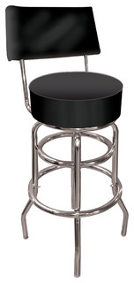 Padded Swivel Barstool With Back