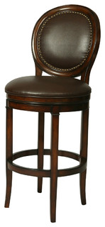 Pastel Naples Bay Barstool Bonded Ridge Leather Seat 26 Inch